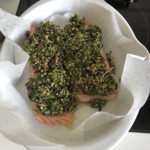 Sund ovnbagt laks med persille opskrift