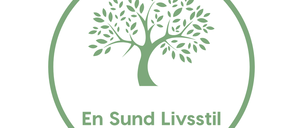 En sund livsstils logo i grøn med hvid baggrund
