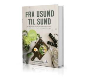 """Umahros bog """"Fra sund til usund"""", som er en guide til at blive sundere."""